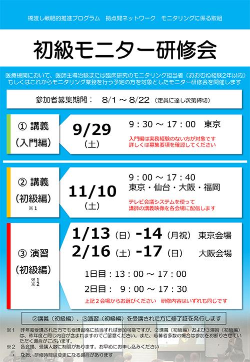平成29年度  初級モニター研修会